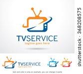 tv service logo template design ... | Shutterstock .eps vector #368208575