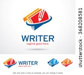 writer logo template design... | Shutterstock .eps vector #368208581