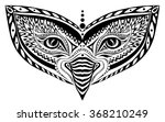 stylized patterned vector mask  ... | Shutterstock .eps vector #368210249