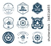 set of yacht club labels design ... | Shutterstock . vector #368216855