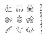 set of the outline easter icons ... | Shutterstock .eps vector #368217341