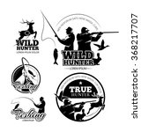vintage hunting and fishing...   Shutterstock .eps vector #368217707