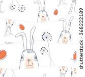 hand drawn easter seamless... | Shutterstock .eps vector #368222189