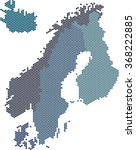 circle shape nordic counties... | Shutterstock .eps vector #368222885