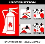 fire extinguisher  ... | Shutterstock .eps vector #368228969