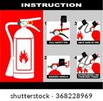 fire extinguisher  ... | Shutterstock .eps vector #368228969