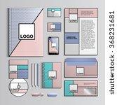corporate identity template... | Shutterstock .eps vector #368231681