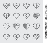 heart line icon | Shutterstock .eps vector #368243201