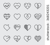 heart line icon | Shutterstock .eps vector #368243201