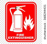 fire extinguisher sign | Shutterstock .eps vector #368244431