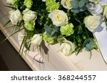 a coffin with a flower... | Shutterstock . vector #368244557