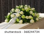 a coffin with a flower... | Shutterstock . vector #368244734