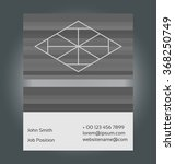 two sided business card... | Shutterstock .eps vector #368250749