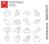 web icons set   vegetables | Shutterstock .eps vector #368253137