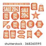sale promotion vector set 20 ... | Shutterstock .eps vector #368260595