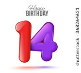 sample greeting card to the 14...   Shutterstock .eps vector #368264621