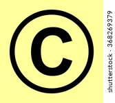 copyright sign. flat style icon ... | Shutterstock .eps vector #368269379