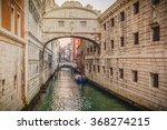 Gondolas On The Canal Bridge O...