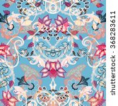 seamless floral background.... | Shutterstock .eps vector #368283611