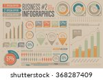 business infographics set with... | Shutterstock .eps vector #368287409