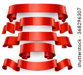 realistic red glossy  ribbons... | Shutterstock . vector #368296307