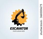 excavator logo template. | Shutterstock .eps vector #368300675