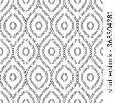 seamless vector black and white ... | Shutterstock .eps vector #368304281