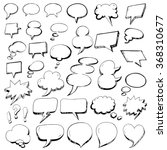 vector collection of hand drawn ... | Shutterstock .eps vector #368310677