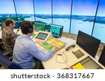 air traffic controllers in air... | Shutterstock . vector #368317667