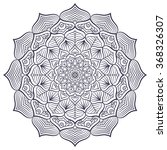 mandala. vintage decorative... | Shutterstock .eps vector #368326307