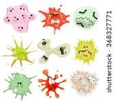 Cartoon Germs  Virus And...