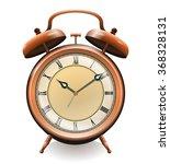 antique copper alarm clock... | Shutterstock .eps vector #368328131