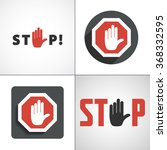 stop hand icon vector jpeg...