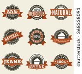 set of bright labels pattern on ... | Shutterstock . vector #368338091