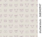 cute seamless pattern with hand ...   Shutterstock .eps vector #368340947