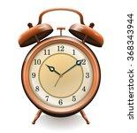 antique copper alarm clock... | Shutterstock .eps vector #368343944