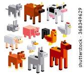 vector set of different cartoon ... | Shutterstock .eps vector #368349629