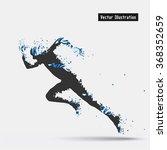 running man  vector eps10... | Shutterstock .eps vector #368352659