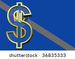 Las Vegas flag with dollar sign. Computer generated 3D photo rendering. - stock photo