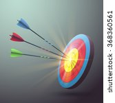 target aim with arrows and... | Shutterstock .eps vector #368360561