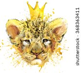 Watercolor Lion Cub...