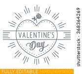 happy valentine day. shining... | Shutterstock .eps vector #368364269