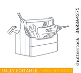 wood tool box. kit include... | Shutterstock .eps vector #368364275