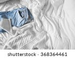 female outfit laid out on bed ... | Shutterstock . vector #368364461