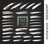 a set of vector brush strokes... | Shutterstock .eps vector #368366069