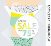abstract sale banner in retro... | Shutterstock .eps vector #368371301