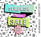 abstract sale banner in retro... | Shutterstock .eps vector #368371379