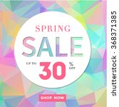 spring sale stylish banner  on... | Shutterstock .eps vector #368371385