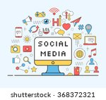 concept for social network and... | Shutterstock .eps vector #368372321