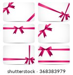 gift card with pink ribbon and... | Shutterstock .eps vector #368383979
